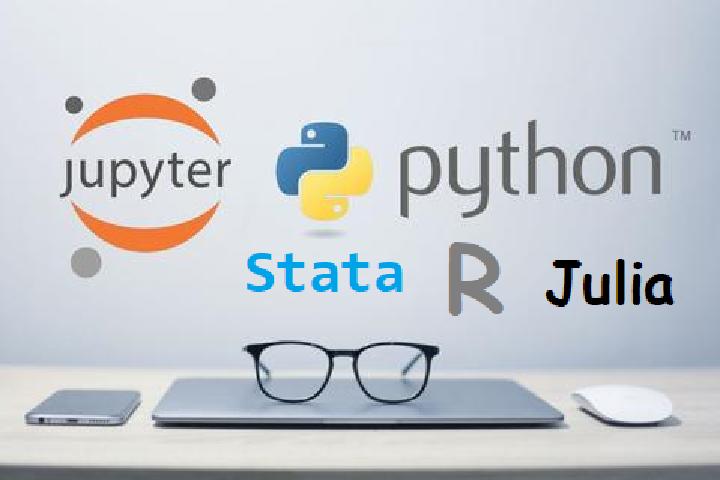 使用 Jupyter Notebook 配置 Stata\Python\Julia\R