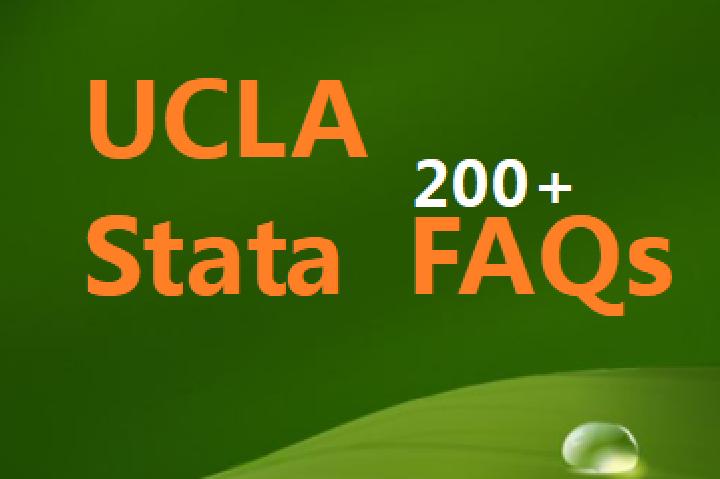 UCLA-Stata-FAQ:200多个Stata常见问题-英文版