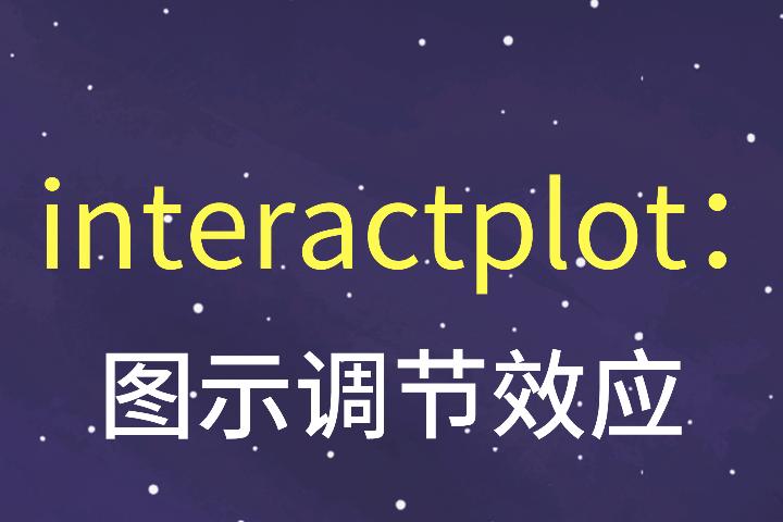 interactplot:图示交乘项-交互项-调节效应