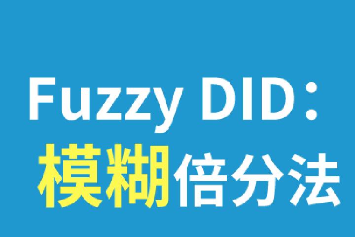 Fuzzy DID:模糊倍分法